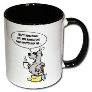 Jetzt trinken wir erst mal Kaffee und dann warten wir ab