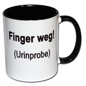 Finger weg! Urinprobe