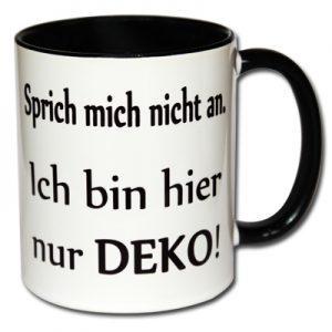 Sprich mich nicht an. Ich bin hier nur Deko