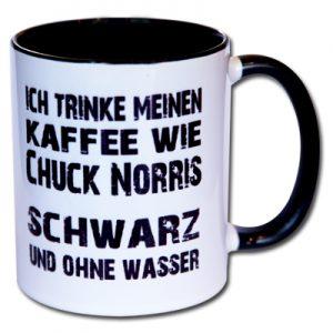 Ich trinke meinen Kaffee wie Chuck Norris