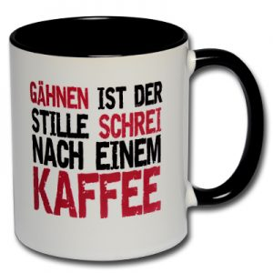 Gähnen ist der stille Schrei nach einem Kaffee