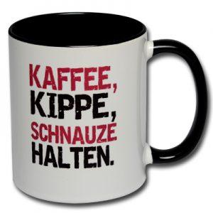 Kaffee Kippe Schnauze halten