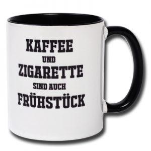 Kaffee und Zigarette sind auch Frühstück