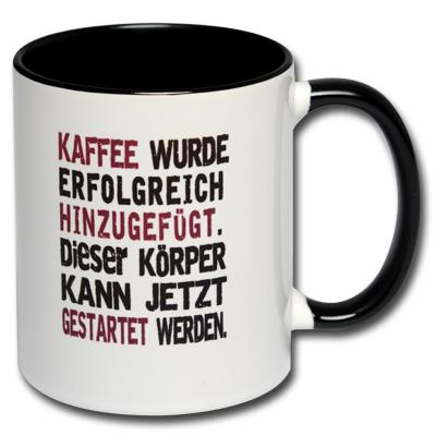 Kaffee wurde erfolgreich hinzugefügt