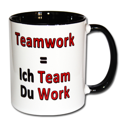 Teamwork Ich Team Du Work
