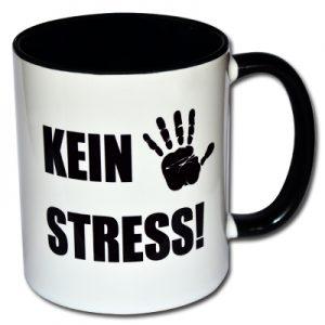 Kein Stress! Spruchtasse
