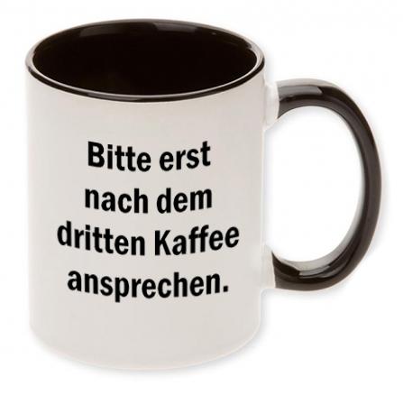 Bitte erst nach dem dritten Kaffee ansprechen.