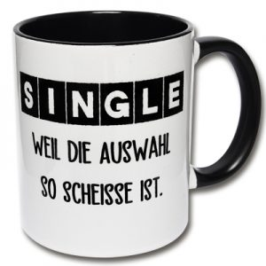 Lustige Tasse Single