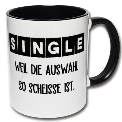 Lustige Tasse Single