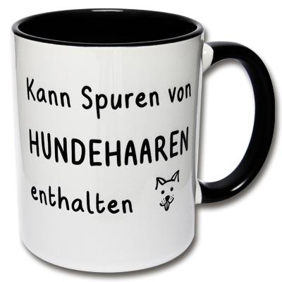 Tasse Kann Spuren von Hundehaaren enthalten