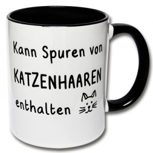 Tasse Kann Spuren von Katzenhaare enthalten