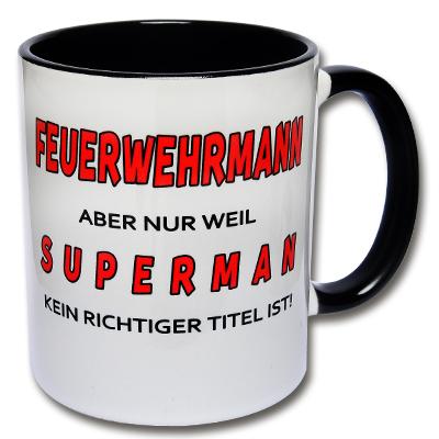 Tasse Feuerwehrmann Kaffeetasse