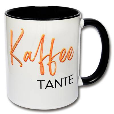 Lustige Tasse Kaffeetante