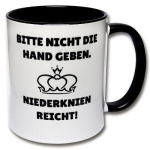 Tasse Bitte nicht die Hand geben