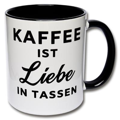 Kaffee ist Liebe in Tassen
