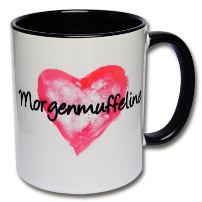 Herz Tasse Morgenmuffeline